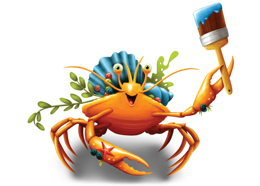 Day #1 - Sunday, July 16 was the first day of VBS, and everyone had a great time. Our host for the day was Decker, the Decorator Crab. To see some of the photos from Day #1, click on Decker's picture.