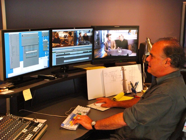 Six Week Artist in Residence Editor Jeff Wolf editing  A.C.O.D .