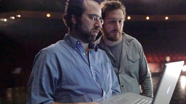 Andrew Weisblum with  Black Swan director Darren Aronofsky