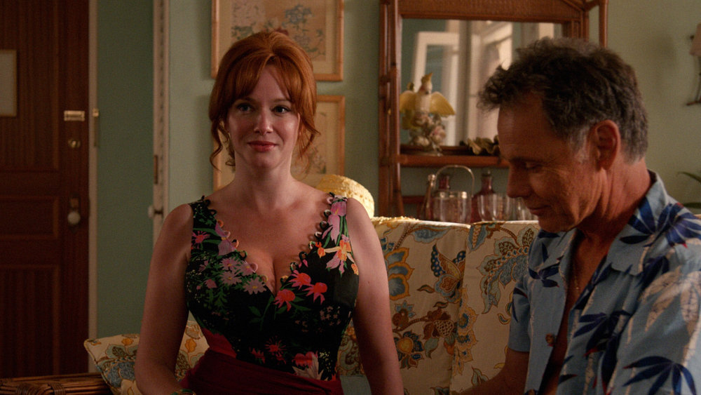 Christina Hendricks as Joan Harris and Bruce Greenwood as Richard Burghoff  Mad Men  Season 7