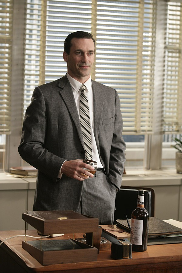 Don Draper (Jon Hamm)  Mad Men  Season 1, Episode 1 – Photo Credit: Craig Blankenhorn/AMC