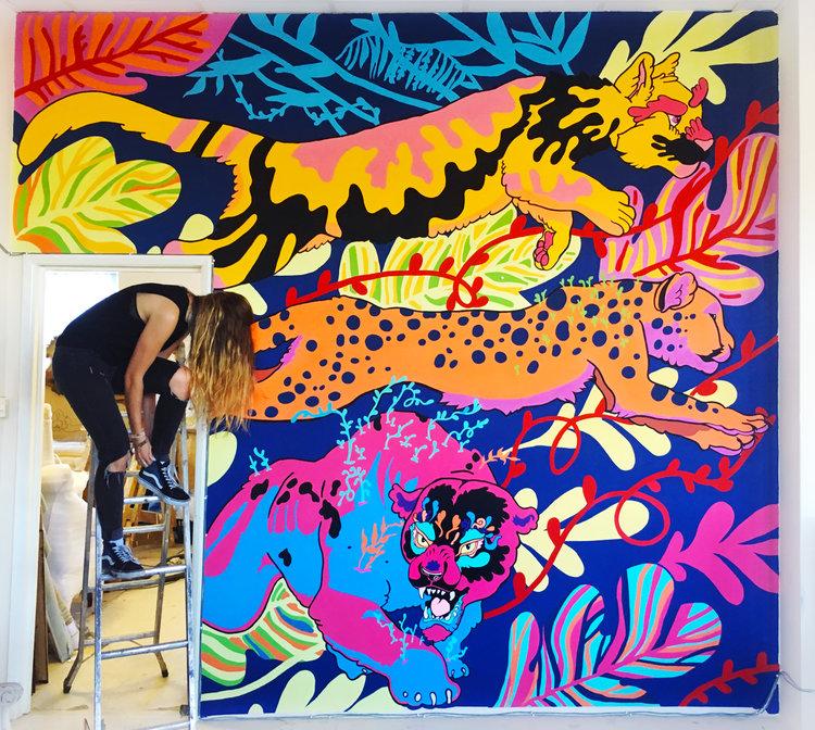 murals large paintings clara bacou
