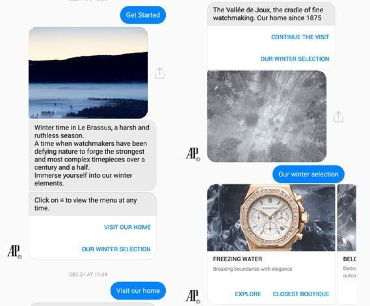 audemars-piguet-facebook-messenger-chatbot
