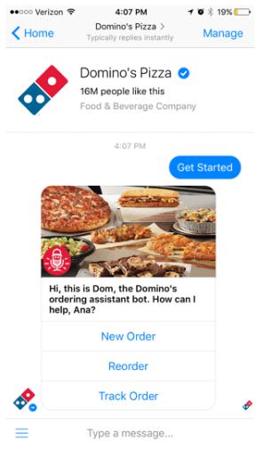 Dominos-pizza-facebook-messenger-chatbot