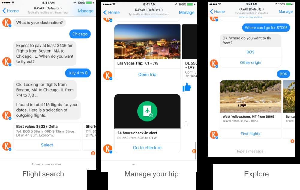 Kayak-facebook-messenger-chatbot