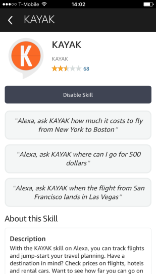 Kayak-amazon-alexa-chatbot
