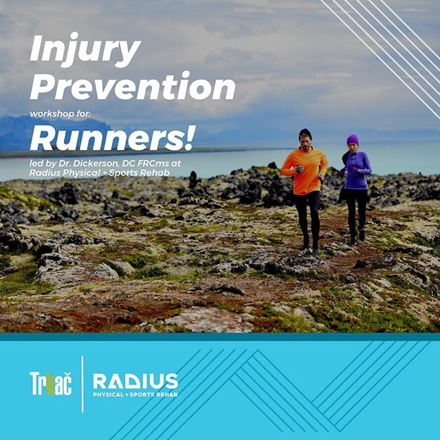 5 spots left!  Join @trkacrunning and Dr. Eric Dickerson, DC FRCms with the Radius Physical + Sports Rehab team for a fun & interactive workshop. You'll learn about common conditions associated with running such as: hip pain, knee pain, ankle/foot pain - plus walk through simple injury prevention strategies to combat pains and prevent them in the first place!  SPACE IS LIMITED: You must RSVP to reserve your spot: https://www.radiusclinic.com/rsvp  Workshop is 1 hour, 6pm-7pm Wear flexible clothing: this workshop is interactive! This event is FREE Held on-site at Radius: 124 Clydesdale Ct. Ste K, Grass Valley Have questions? Ask them! info@radiusclinic.com 530-955-0065