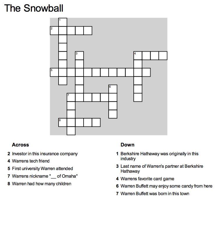 You can print this page or click the crossword to go to crosswordhobbyist.com and complete the puzzle. Enjoy!