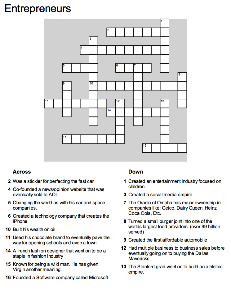 You can print this page or click the puzzle to complete it on Crosswordhobbyist.com.