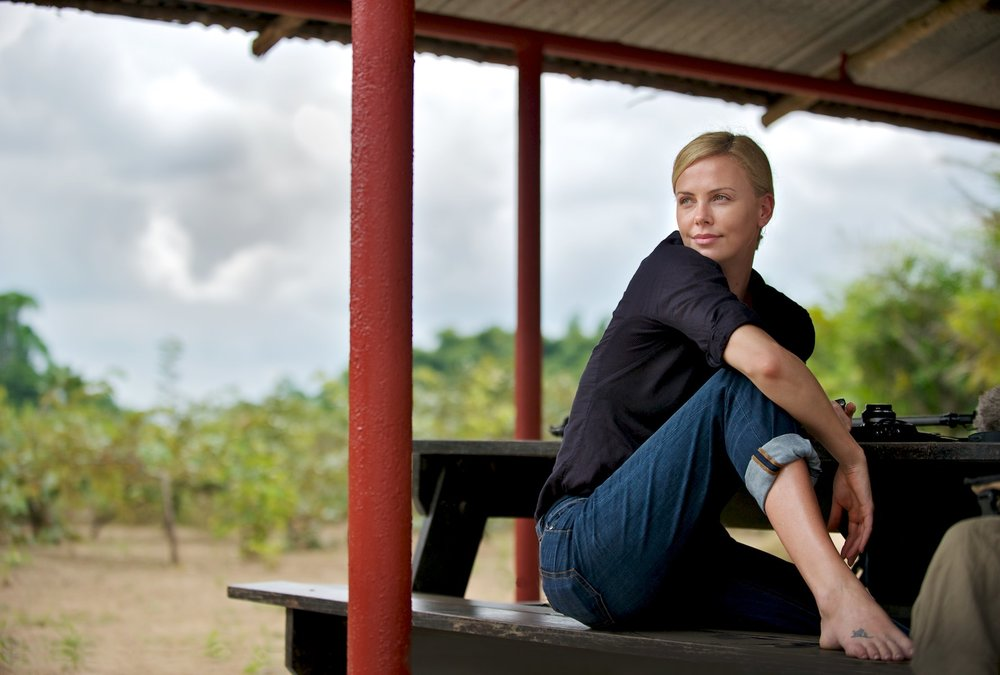 CHARLIZE THERON + JANE GOODALL