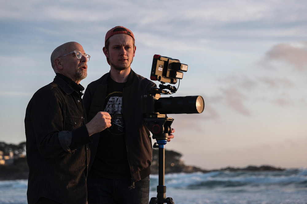 Doug and DP Luke Carquillat set up shot with Russell using the Leica SL. We shot in L-log with the Alexa LUT which gave us gorgeous color in real time.