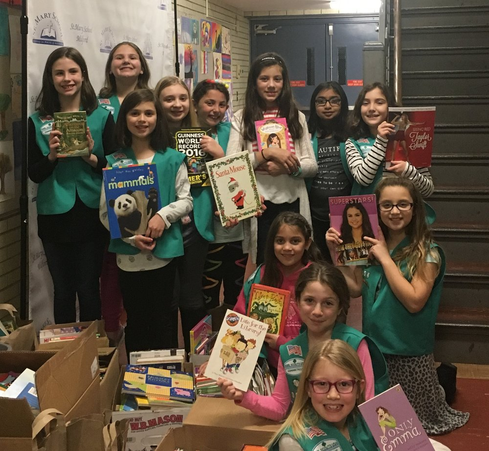 Girl Scouts Book Drive.JPG