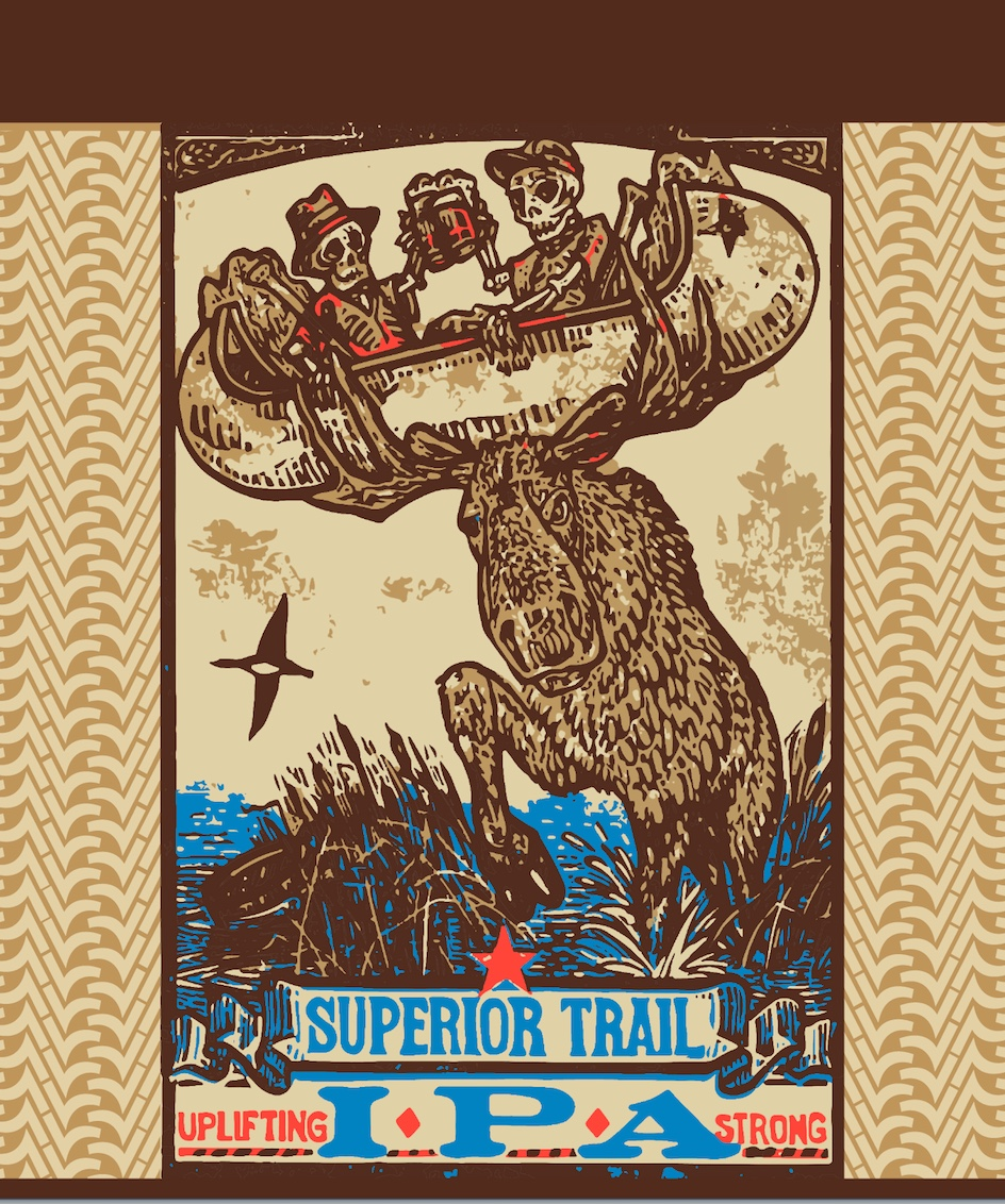 Superior Trail IPA - Our North Shore style IPA is hop forward with broad aromas yielding mango and citrus notes. It has a balanced finish with a touch of sweetness.
