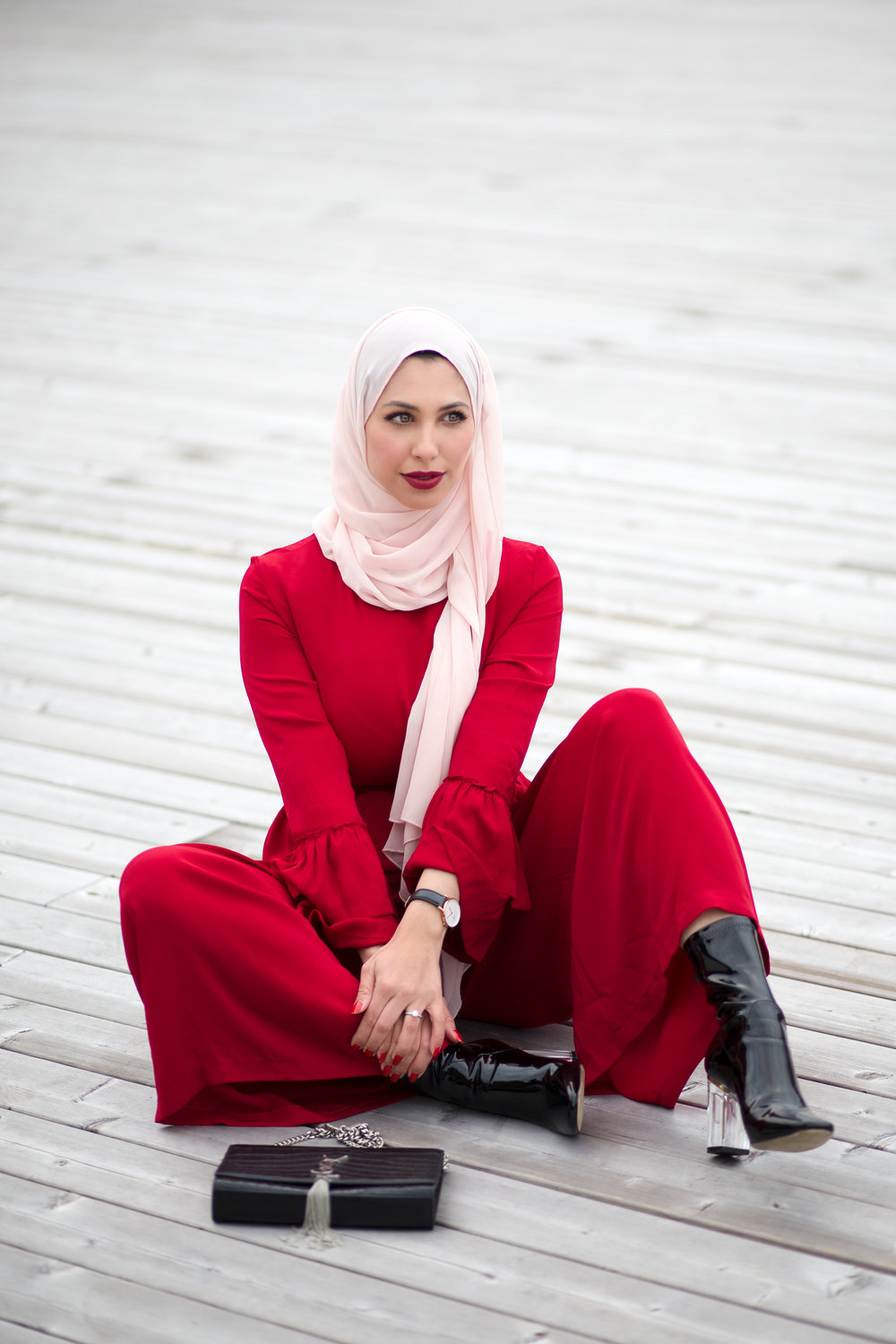 Red Jumpsuit Outfit.JPG
