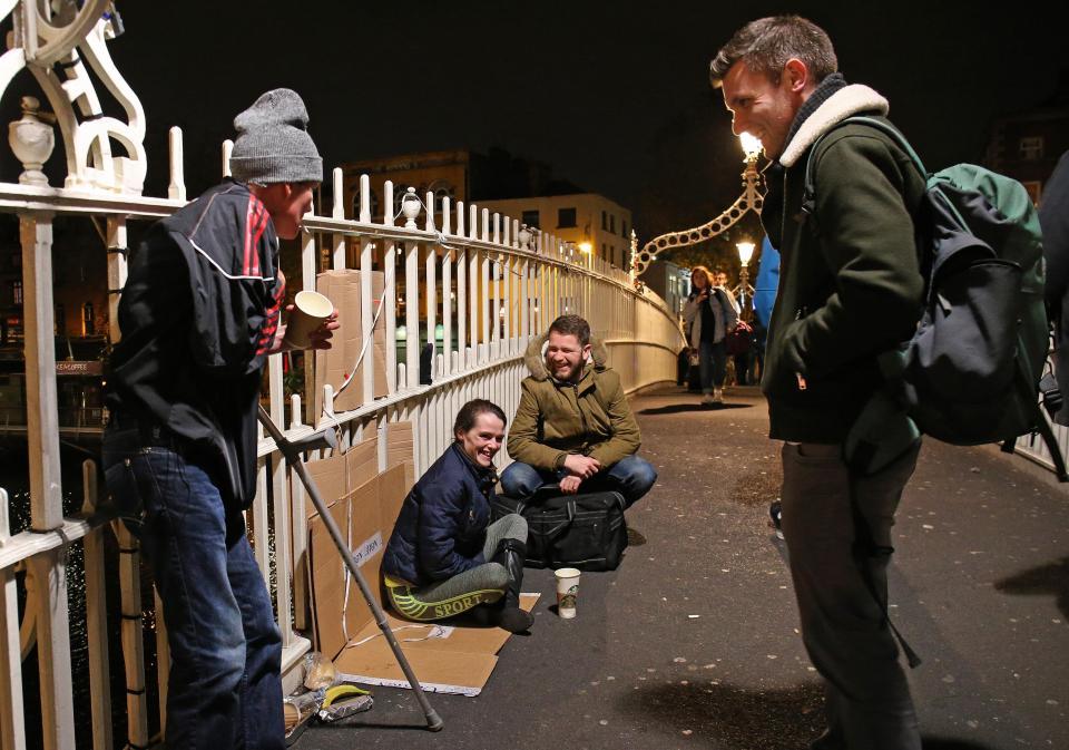 Dublin Simon Community on a soup run in the city centre. Photo Credit: The Irish Sun