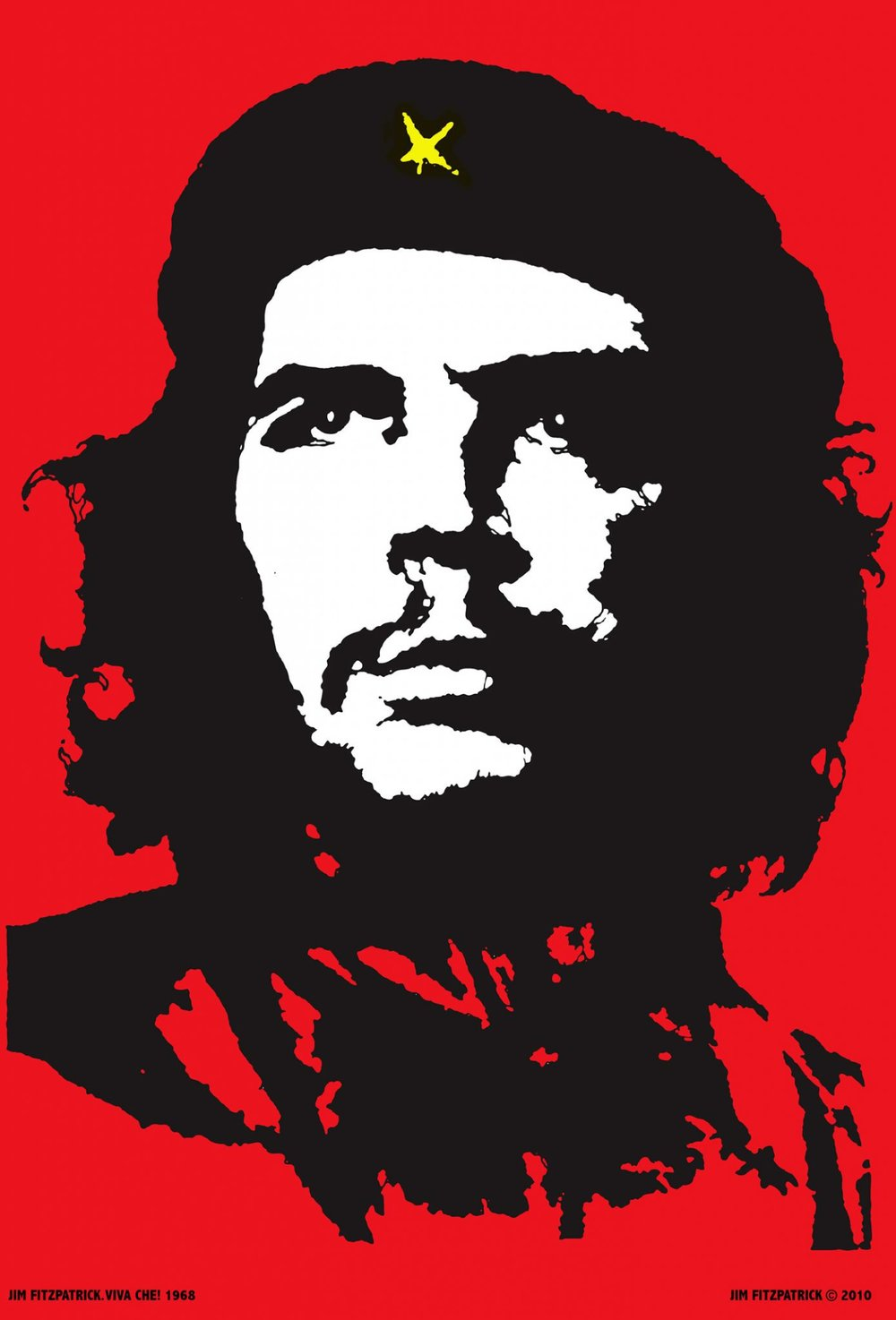 The iconic two-tone poster of Che