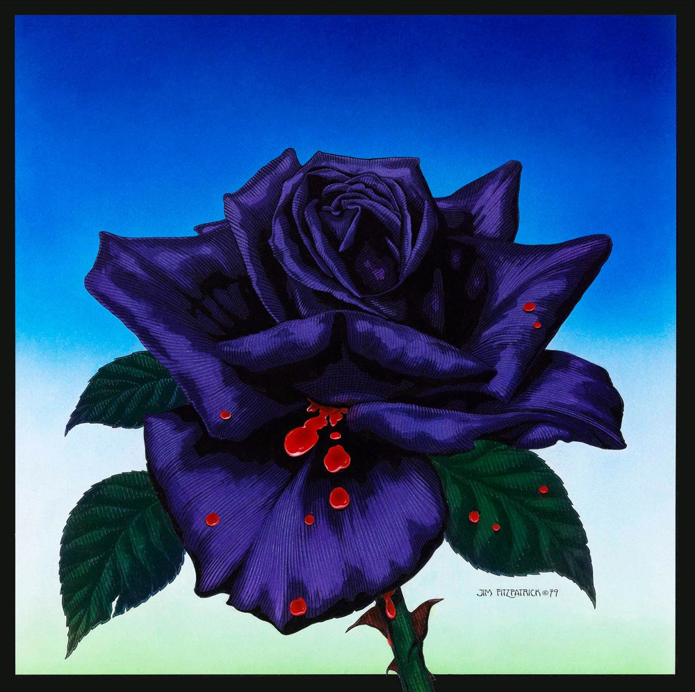 The Black Rose artwork Jim FitzPatrick made for Thin Lizzy