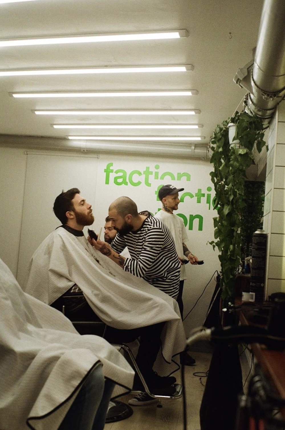 Aaron in flow.. Photo by Faction barber Joe Cleary