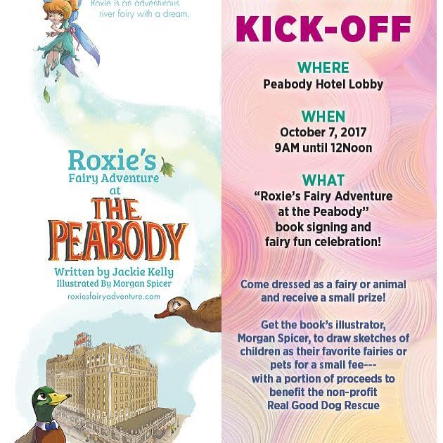 Tomorrow is the big day! Don't forget to join us for the book signing! #ilovememphis #901memphis #lanskybrothers #peabodymemphis #fairies #roxiesfairyadventure