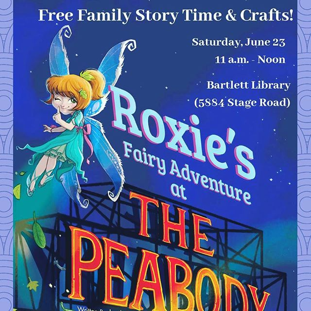 "Looking for a ""fairy"" fun time this weekend? Stop by @memphislibrary for International Fairy Day @ #BartlettLibrary (5884 Stage Road) 11 a.m. – noon on Saturday, June 23!  Bring your family to this FREE event, offering a story time with my book ""Roxie's Fairy Adventure at The Peabody,"" arts & crafts and lots of fun! Then, get a FREE pair of fairy wings, stickers, bookmarks and more.  For details, visit https://goo.gl/5GT4wa and ""Share"" with your ""fairy"" best IG Friends!  See you there!  #InternationalFairyDay #Roxie #Fairy #Peabody"