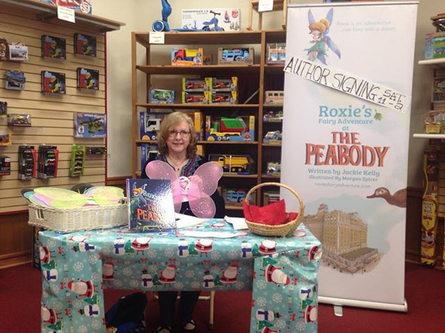 Here at the Village Toymaker. 4615 Poplar Avenue, Poplar at Perkins, until 2 signing books!  Come see me!