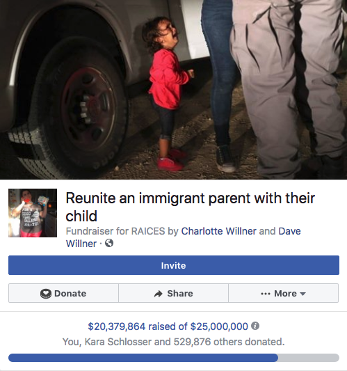 Facebook and Rage Donations