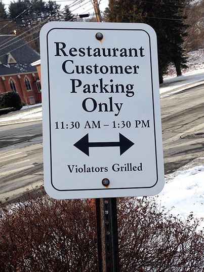 restaurant parking violators grilled.jpg