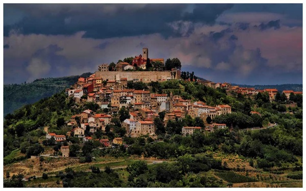 Hilltop town of Motovun, inland Istria
