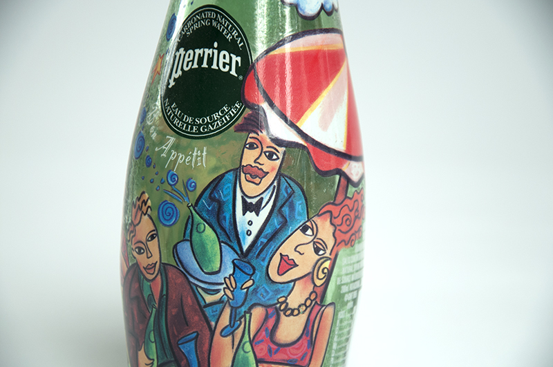 Perrier, bottle design and illustration