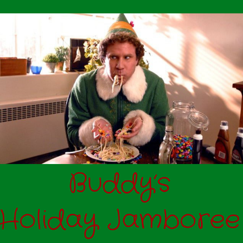 Buddy's Holiday Jamboree - The Four Food Groups: Candy, Candy Canes, Candy Corn, SyrupLeon: Snowman Cheese BallDeviled Arctic Puffin EggsSpaghetti with choice of Meat Sauce or Crumbled Pop Tarts, Maple, & Mini MarshmallowsBeef and Cheese Sliders served on a Throne of LiesMailroom Mushrooms in Whiskey SauceSugarplumsNYC Subway Railing Free Candy Gum (Homemade Taffy)Doctor's Office Cotton Candy BallsWorld's Best Cup of Coffee Panna Cotta