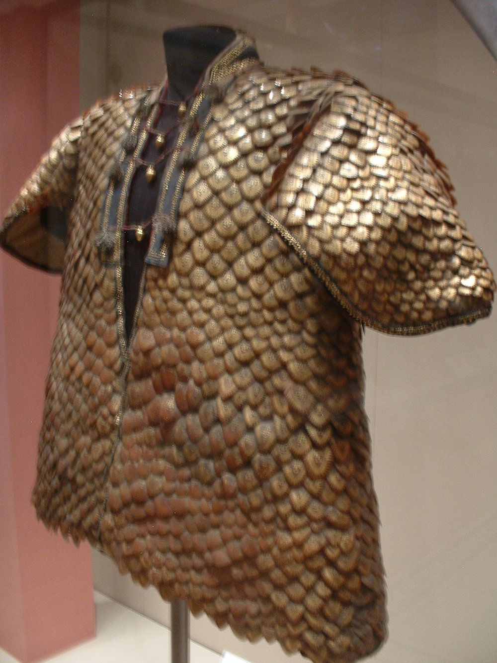 Pangolin-scale armor presented to King George III of England in 1820.