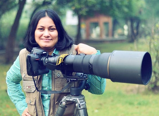 Rathika Ramasamy stands out from the male-dominated crowd. Image from  yourstory.com .