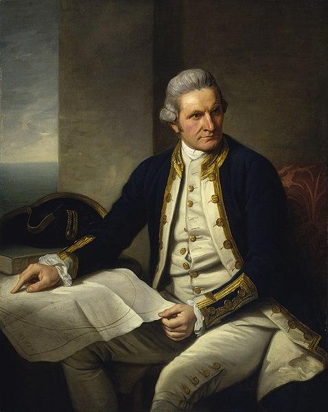 Portrait of Captain James Cook by Nathaniel Dance-Holland, 1776