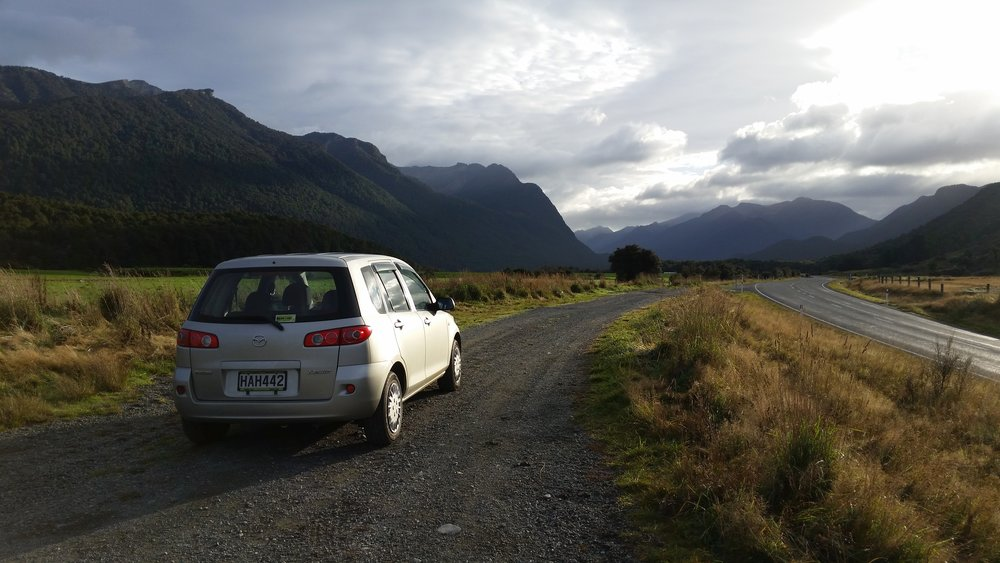 On the road to Milford Sound, NZ
