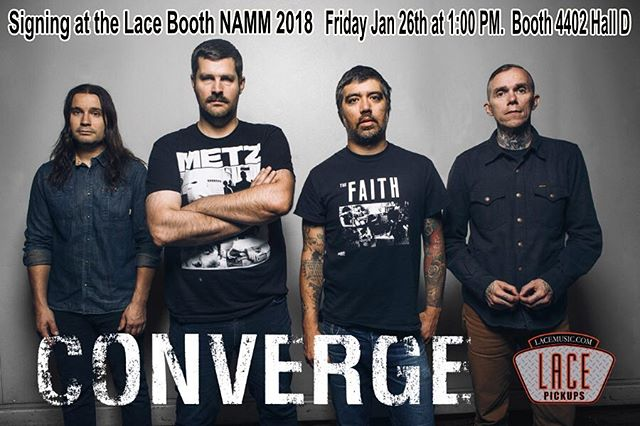 @converge will be at the @lacepickups booth at @thenammshow to sign things.