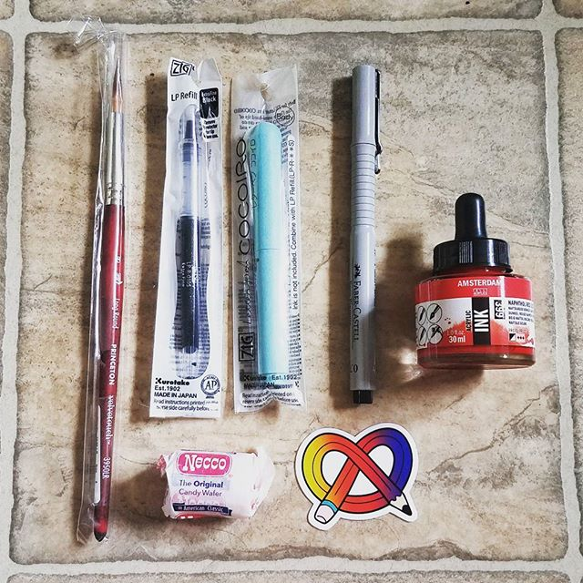 Our first @artsnacks box is here! Go read our new review over at our site! . . . . . . .  #art #artsupplies #artsnacks #subscriptionbox #blog #review