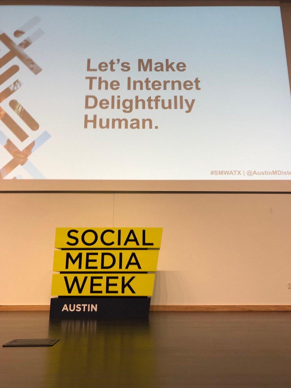 """Let's make the internet delightfully human."" — Austin Distel, Proof"