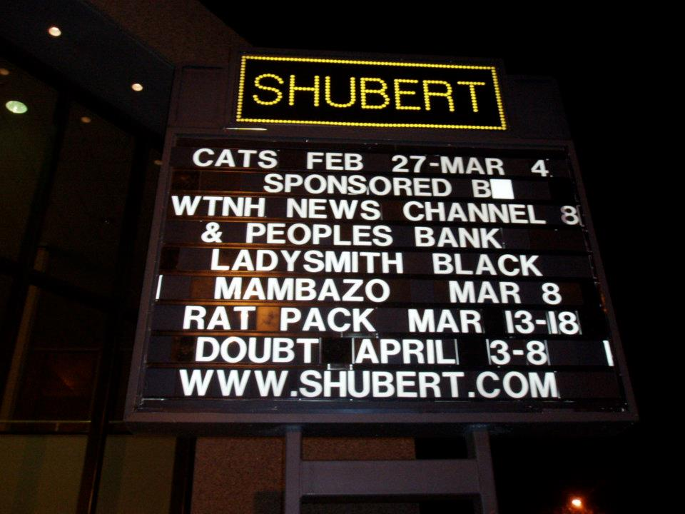 playing the iconic Shubert Theatre in New Haven, CT.