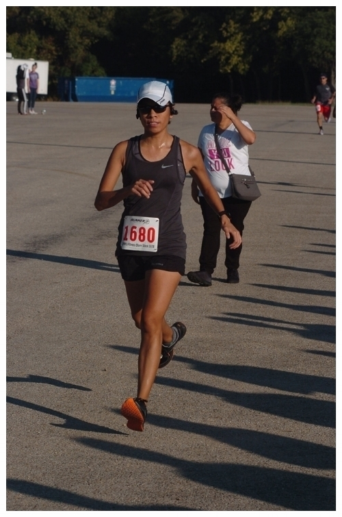 Me running a very hot 5K.