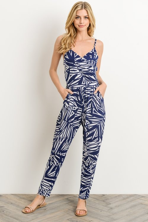 7c1e1bc66d Navy Blue and White Jumpsuit — Shopping In The AM