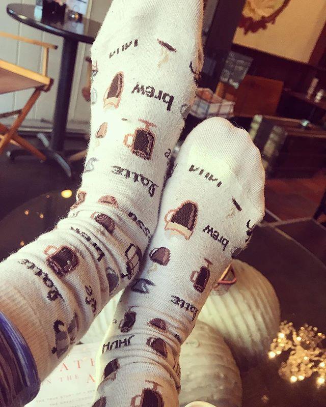 Tuesday after #daylightsavings ➡️ coffee swag necessary. • • • #coffeeswag #java #latte #espresso #coffee #cafe #caffeine #kafein #socks #coffeesocks #tuesday #evanston #staycaffeinated #cafeaulait #latteart #brew #buzzedonkafein
