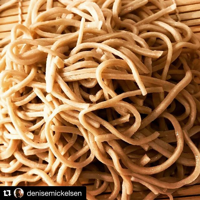 We are still buzzing about Grain Changer Sonoko Sakai. She's truly an inspiration to our whole team as well as the lucky individuals who got to see her make soba last weekend for Slowfood Nations. Let's take Soba to the next level #buckwheat #forever  #grainchanger  #Repost @denisemickelsen with @get_repost ・・・ #tb to the magical, marvelous #soba that @sonokosakai made last week at the soon-to-open @thewolfstailor. Extraordinary! #5280eats #noodles #cantwaitformore