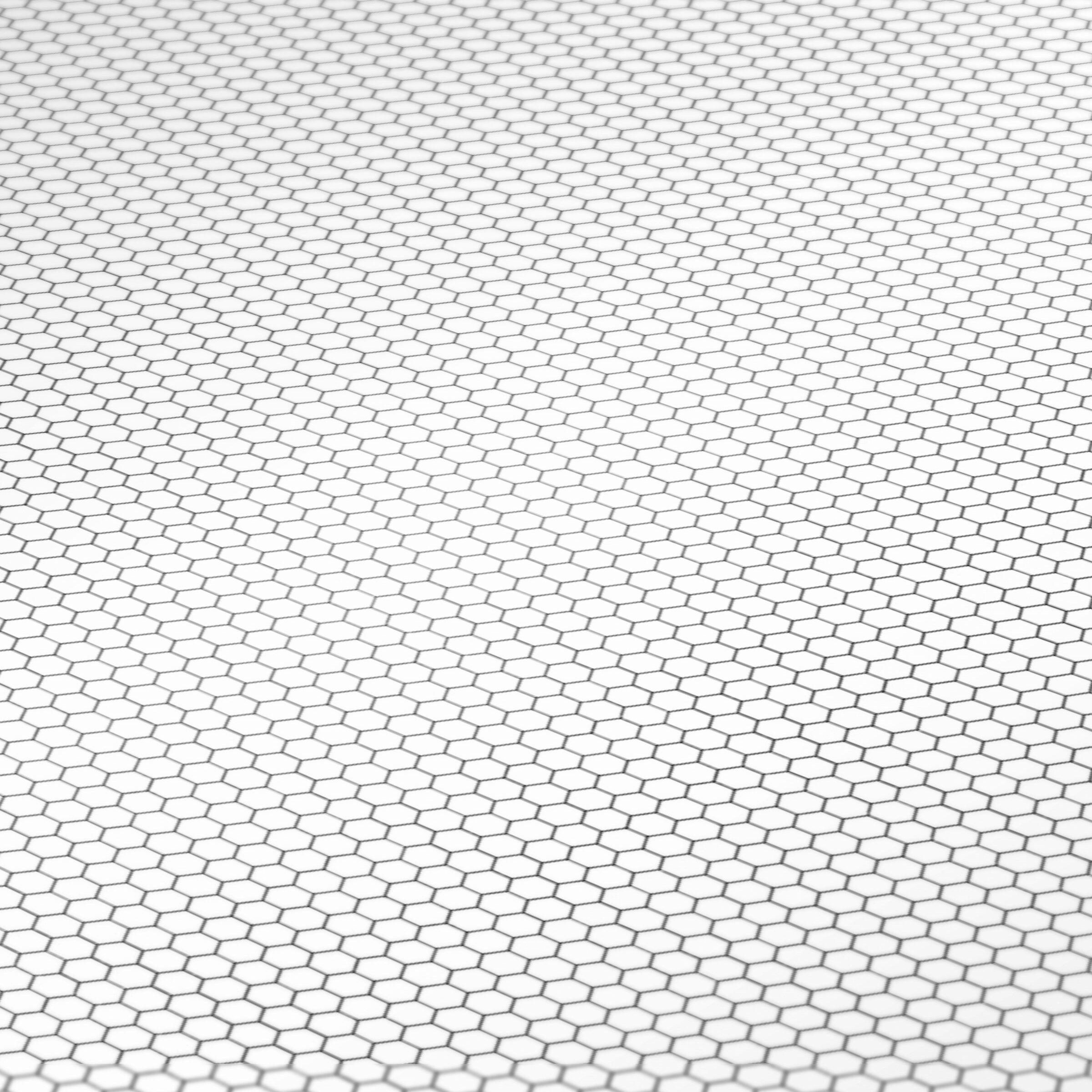 image regarding Hex Paper Printable identified as White Hex Mosaic Tile Printable Jessica Cloe Miniatures