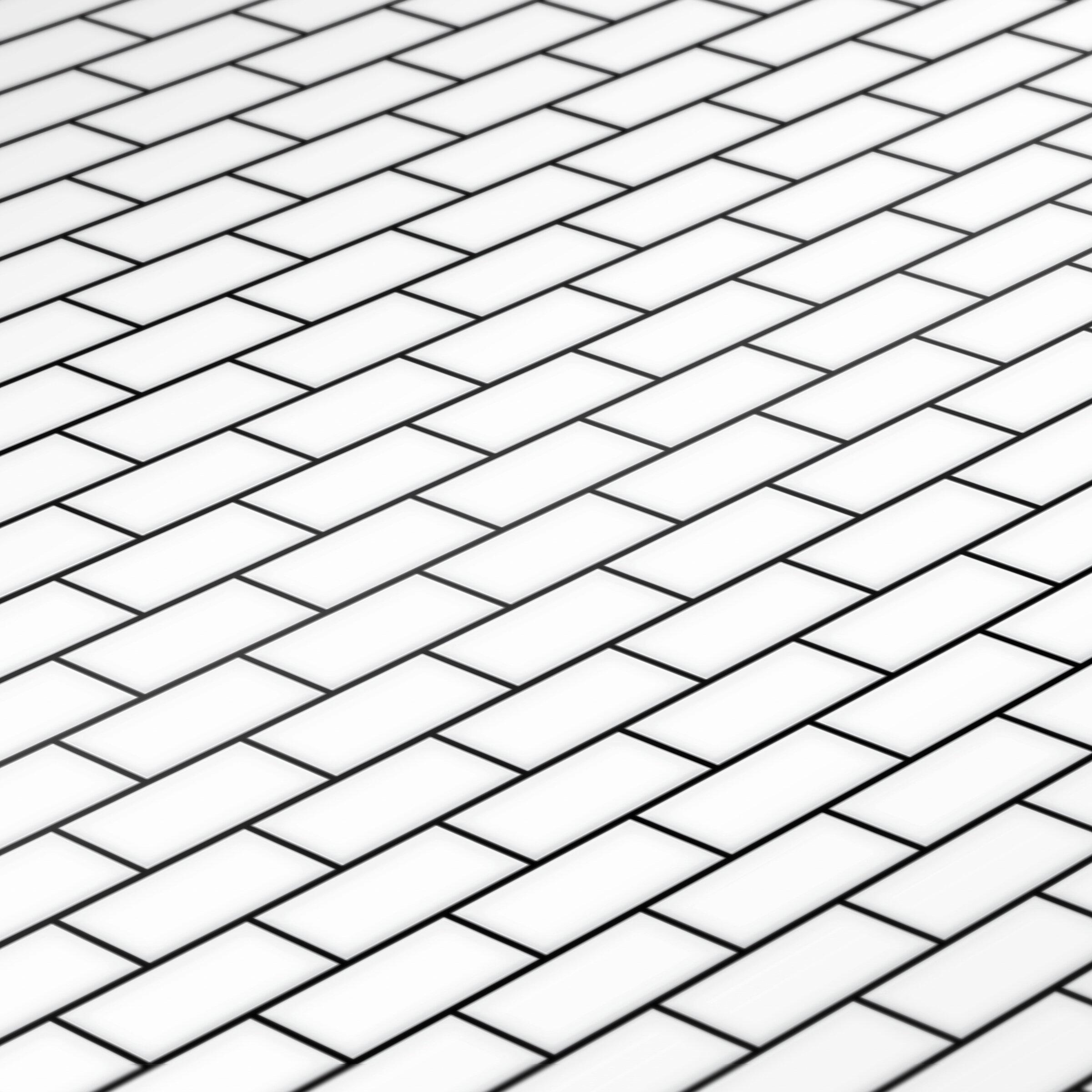 White Subway Tile Sheet Jessica Cloe Miniatures