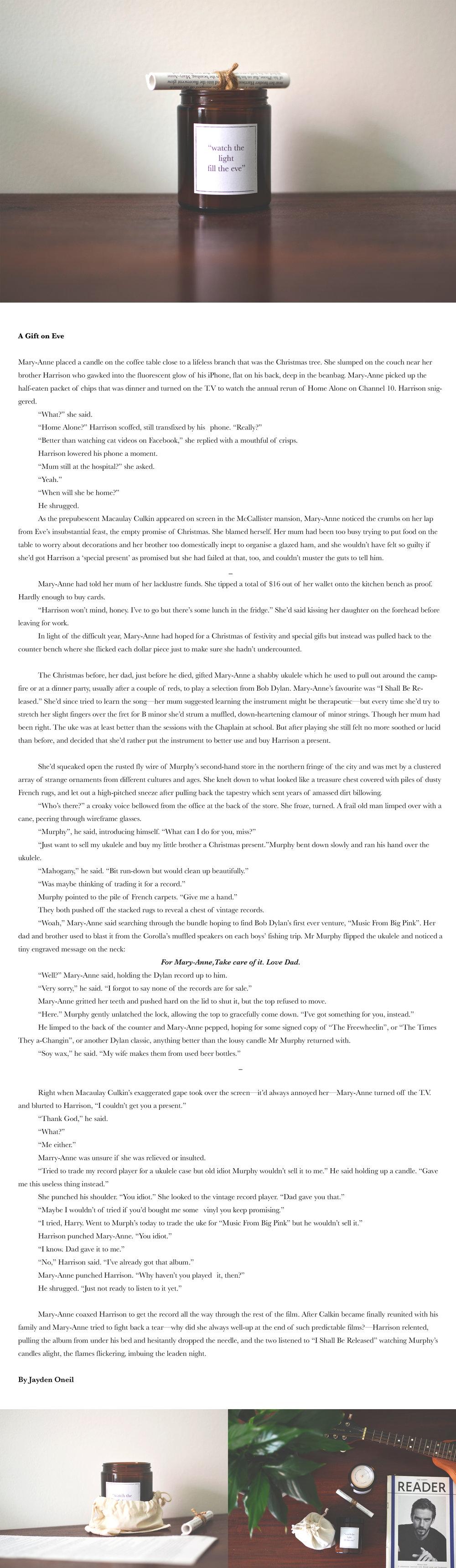 Freelance copy writing Jayden O'Neil