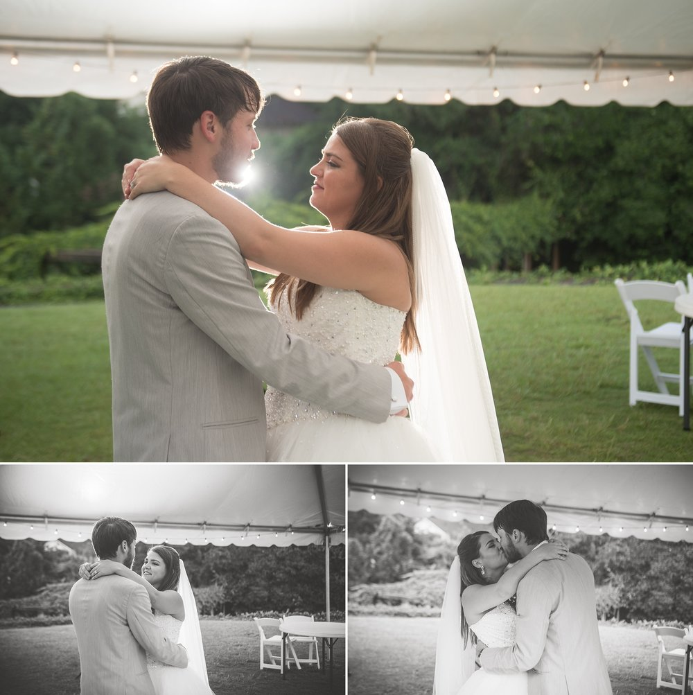 Bride and groom share their first dance as husband and wife