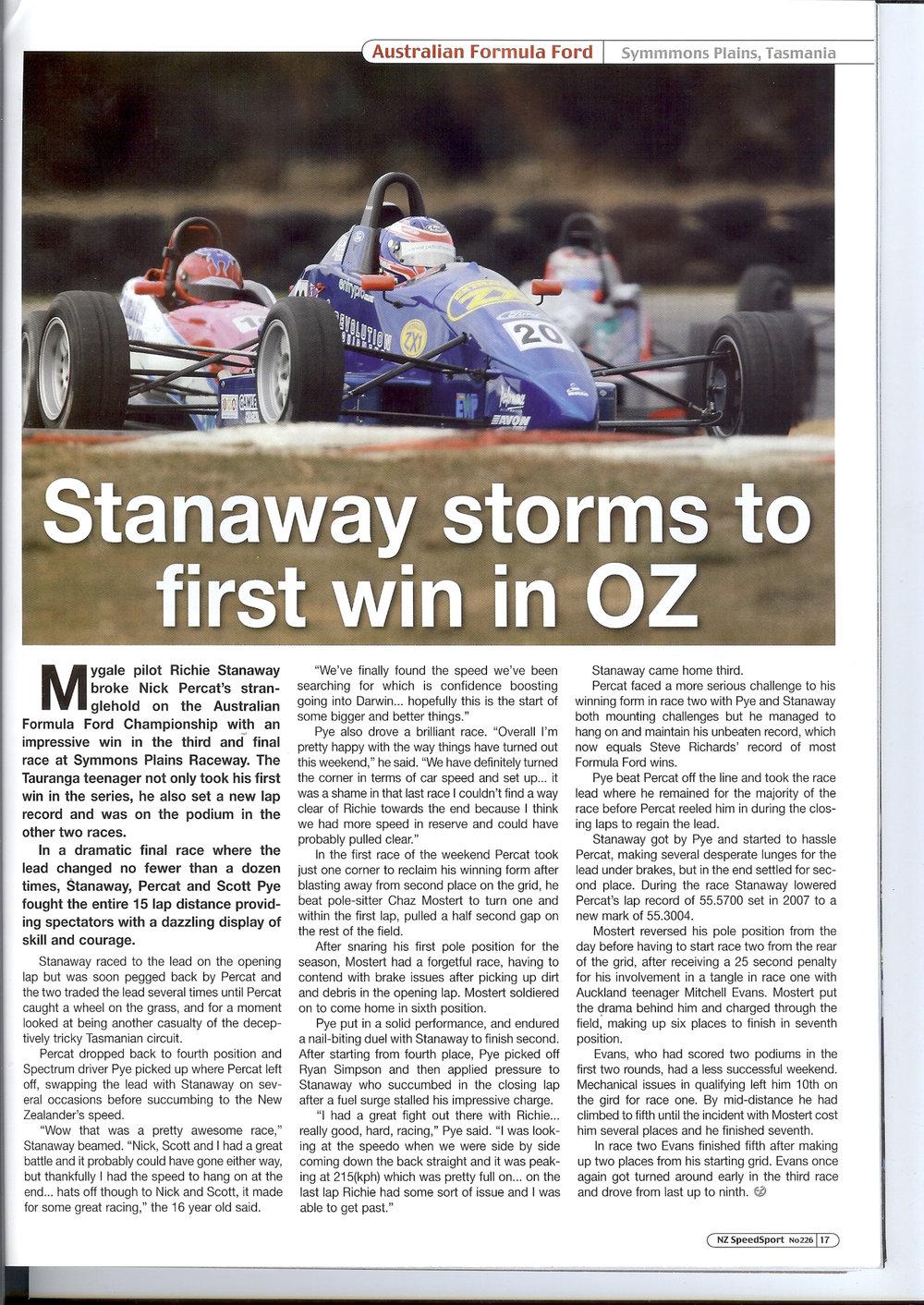 Stanaway first win in Aus June 09.jpg