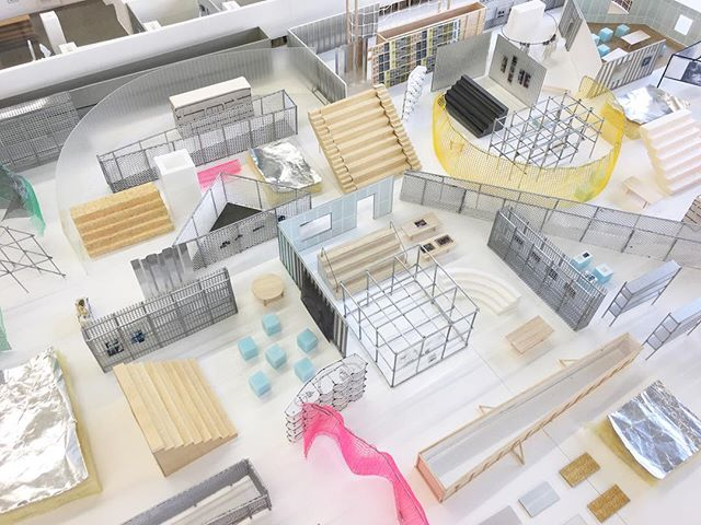 Models of 'elements' built for the Gordon Matta-Clark exhibition in the Museum of Modern Art in Tokyo (2018) - NoRA in collaboration with K2LAB. #maquette #architecture #curator #exhibition #scenography #museum #interior #tokyo #models #material #playground #gordonmattaclark #craft