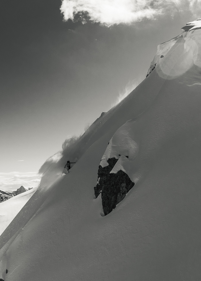 Hamish Smith slays a pow ladened spine. Photo: Sophie Stevens