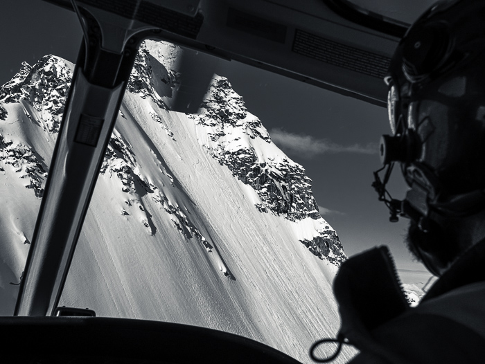 The first face we rode on our Heli day